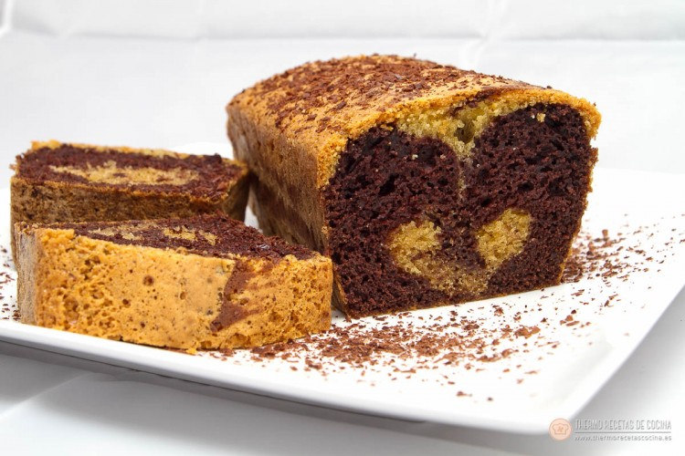 Plum-cake veteado 2