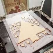 Árbol de Navidad de Nutella y hojaldre 9