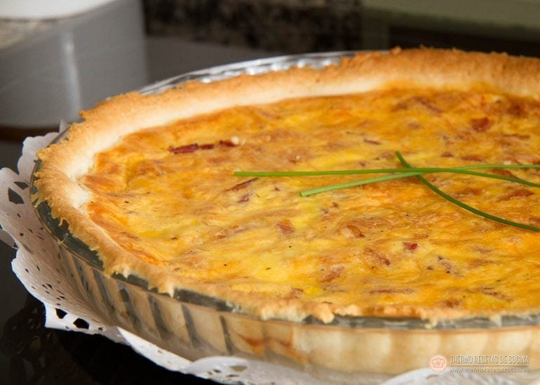 Receta de tarta Quiché de Bacon y Queso 1