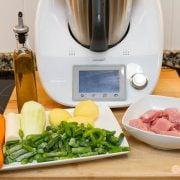 Receta para bebes: Primera papilla de verdura y pollo con Thermomix, para 6 meses 2