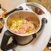 Receta para bebes: Primera papilla de verdura y pollo con Thermomix, para 6 meses 5